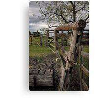 Farm fence Canvas Print