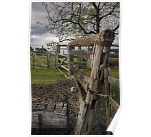 Farm fence Poster