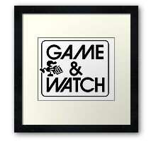 Game and Watch Man Framed Print