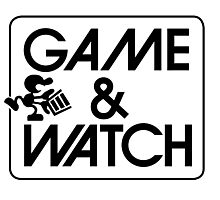 Game and Watch Man Photographic Print