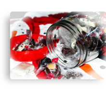 Christmas Candy Jar Canvas Print