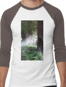 Mystical Moment with the Redwoods Men's Baseball ¾ T-Shirt