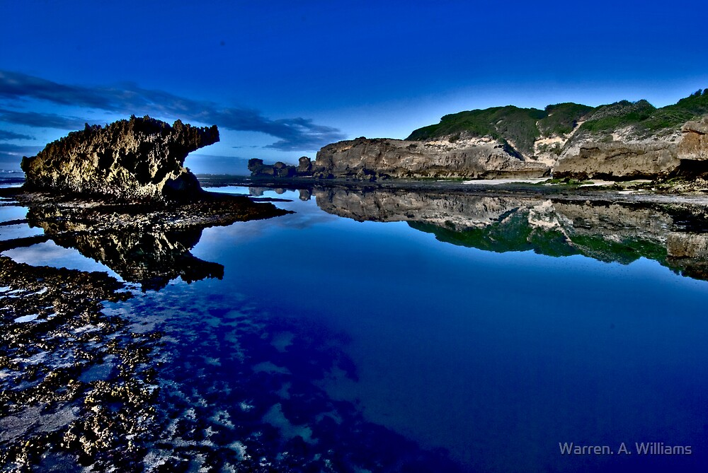 Blue Reflections by Warren. A. Williams