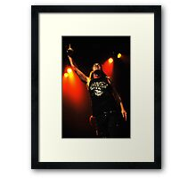 Johnny Solinger of Skid Row Framed Print