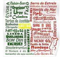 Country Word Mosaic - Portugal Poster