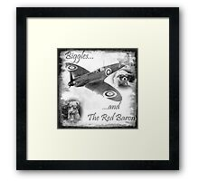 Biggles And The Red Baron Framed Print