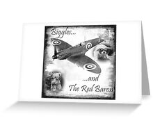 Biggles And The Red Baron Greeting Card