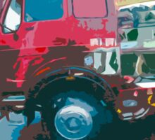 """Unique and rare 1980 Race Trucks France 15 (c) (t) """" fawn paint Picasso ! Olao-Olavia by Okaio Créations Sticker"""