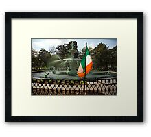 The Greening Of The Fountain 2007 Framed Print