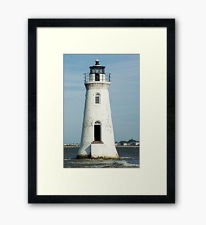 The Cockspur Lighthouse Framed Print