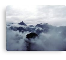 Mountain covered in Clouds - 529 Canvas Print