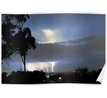 Lightning on the Horizon over Sydney 4 Strikes Poster