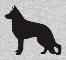 German Shepherd Dog Silhouette Kids Clothes