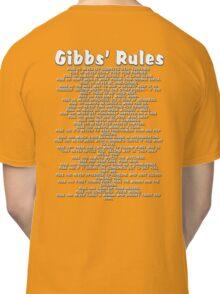 Gibbs' Rules - White Version Classic T-Shirt