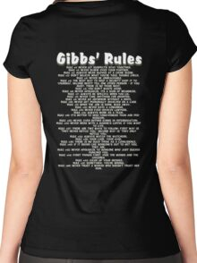 Gibbs' Rules - White Version Women's Fitted Scoop T-Shirt