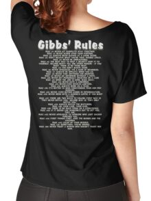 Gibbs' Rules - White Version Women's Relaxed Fit T-Shirt