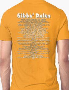 Gibbs' Rules - White Version Unisex T-Shirt