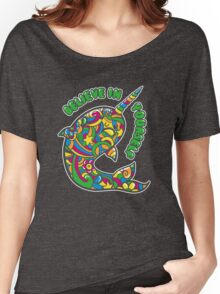 Narwhal Believes in You Women's Relaxed Fit T-Shirt