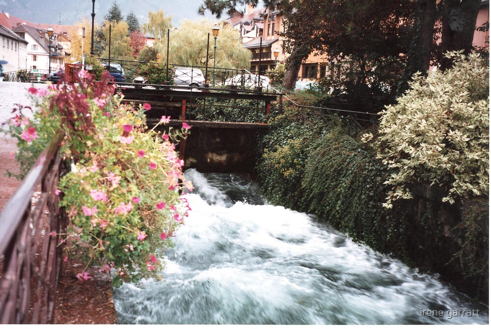 A rushing river in Annacy by irene garratt
