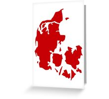 Denmark map Greeting Card