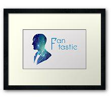 Ninth Doctor Minimalist Design Framed Print