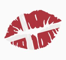 Denmark kiss flag by Designzz