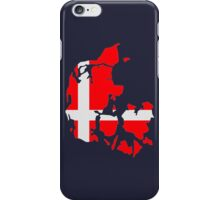 Denmark map flag iPhone Case/Skin