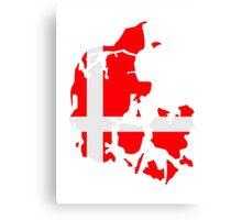 Denmark map flag Canvas Print