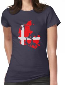 Denmark map flag Womens Fitted T-Shirt