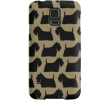 Scottish Terrier Silhouette Samsung Galaxy Case/Skin