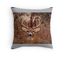 I can smell the snow coming! Throw Pillow