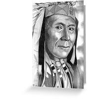 'Chief Daniel'-Wasco Greeting Card