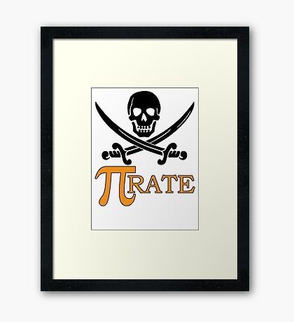 Pi-rate Framed Print