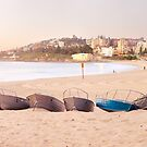 Coogee Beach Boats, Sydney, New South Wales, Australia by Michael Boniwell
