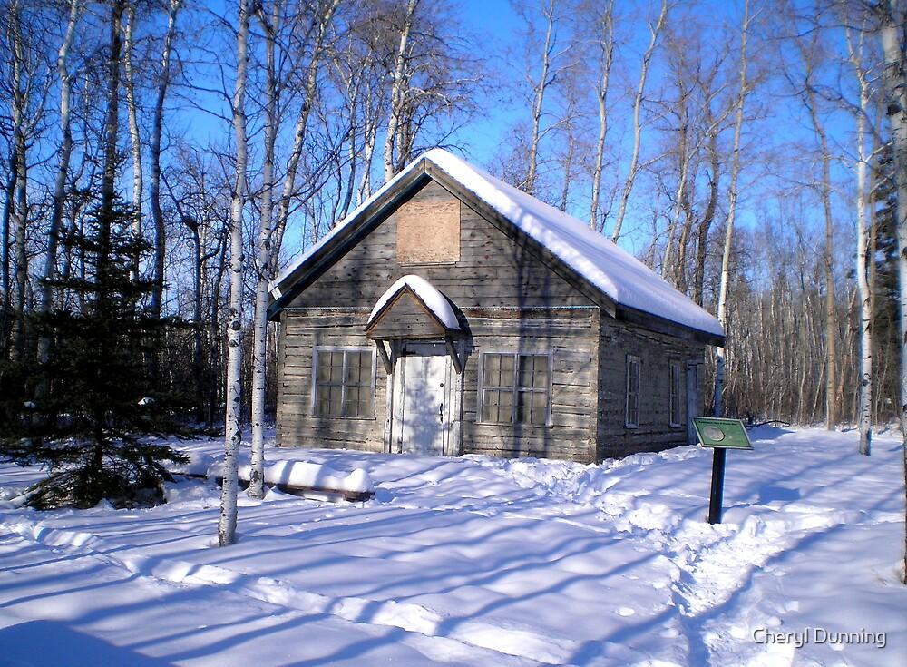 winter cabin? by Cheryl Dunning