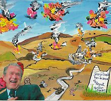 bush has no sense of regret. by Frank Maguire