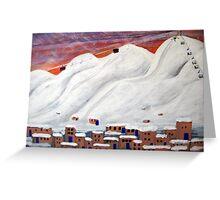 Skiing New  Mexico Greeting Card