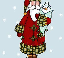Santa and snow baby by Corrie Kuipers