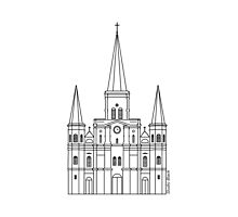 St. Louis Cathedral (Black) by StudioBlack