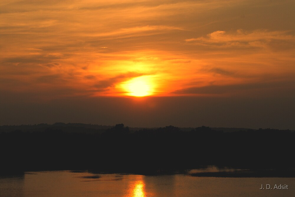Oklahoma Sunset by J. D. Adsit