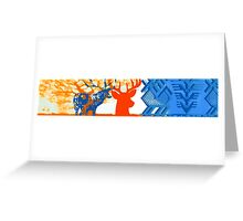 The deer in the forest Greeting Card