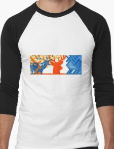 The deer in the forest Men's Baseball ¾ T-Shirt