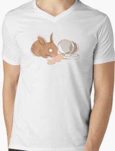 Coffy Rabbit Mens V-Neck T-Shirt