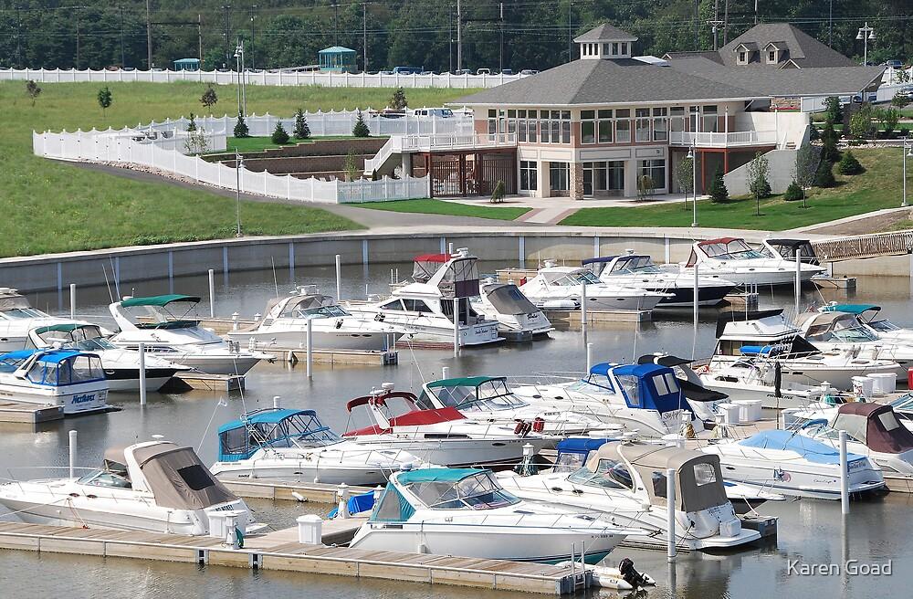 Marina at Marina Shores Yacht Club by Karen Goad