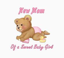 Crawling Teddy - New Mom of Girl Womens Fitted T-Shirt