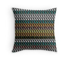 MULTICOLOR abstract FIGURE pattern Throw Pillow