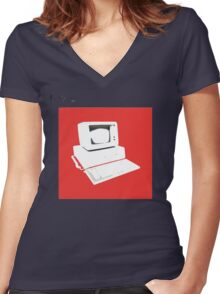 bland IBM Women's Fitted V-Neck T-Shirt
