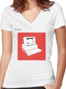 bland IBM Women's Fitted V-Neck T-Shirt
