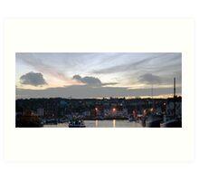 weymouth harbour at sunset Art Print