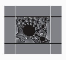 GREY & BLACK PATTERN ABSTRACT One Piece - Long Sleeve